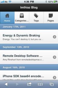 WordPress PDA & iPhone2