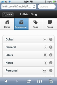 WordPress PDA & iPhone3