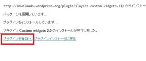 CustomWidgetsの有効化
