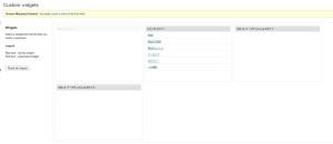 TSCustomWidgetsの設定画面