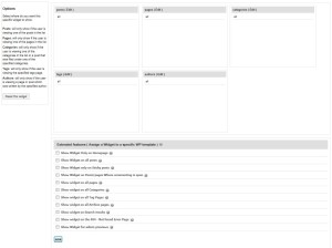 TSCustomWidgetsの詳細設定画面